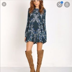 Free people open back tunic dress